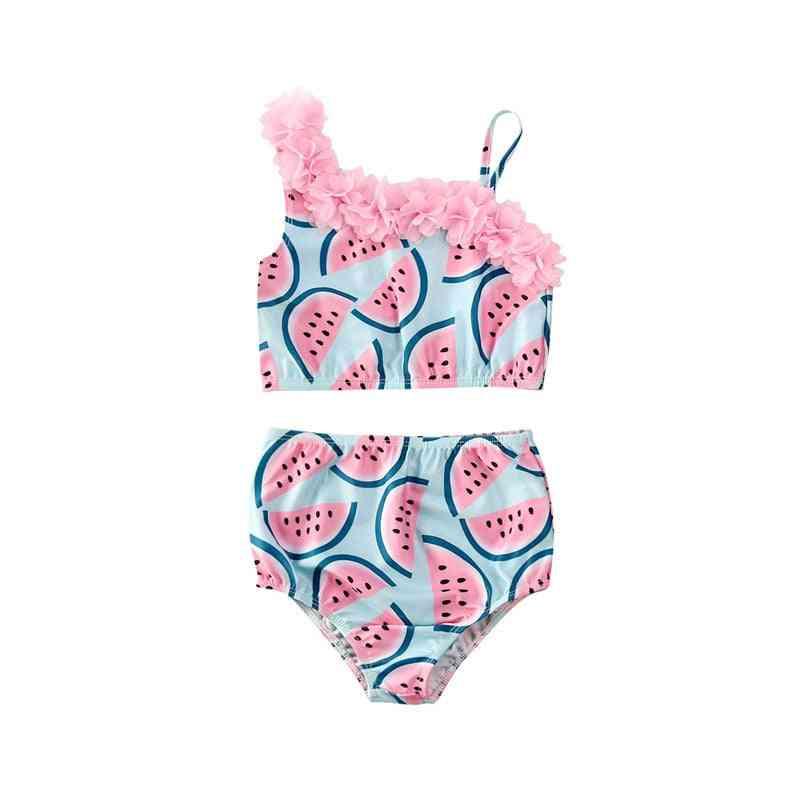 Baby Girl Watermelon Bikinis Swimsuit, Children Swimwear Suit