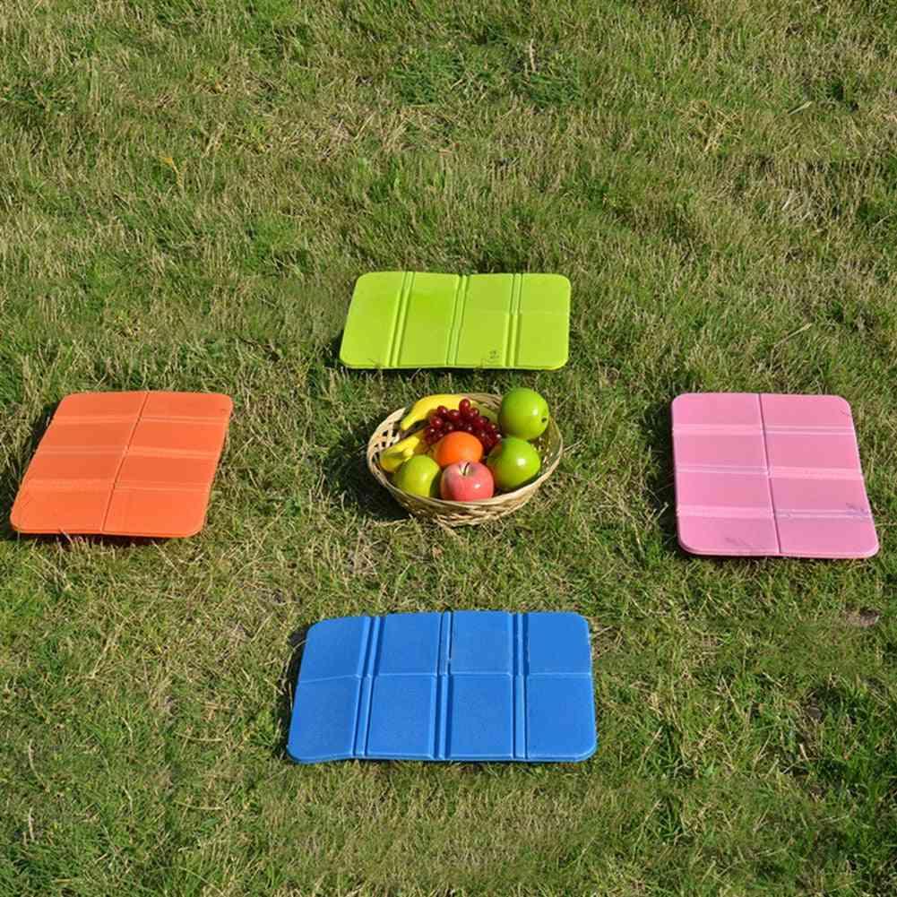 Soft Waterproof Folder Camping Mat, Folding, Portable, Small Cushion, Picnic Outdoor Beach Seat, Mattress Moisture Proof Pad