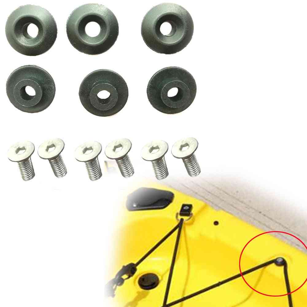 6pc Kayak Deck Line Guides Outfitting Nylon Round Shape Rope Guides