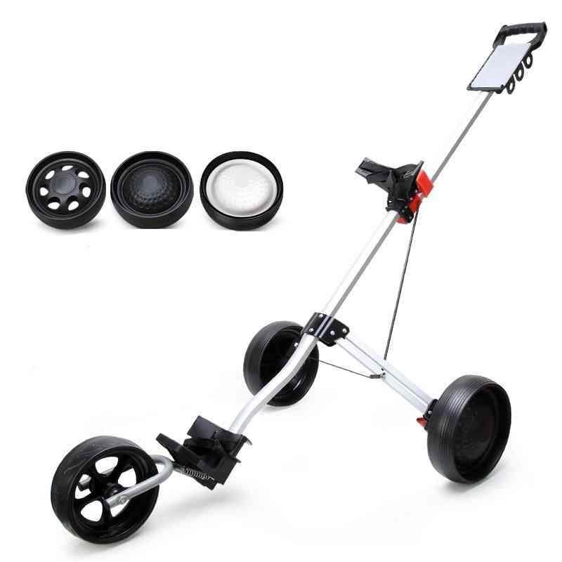 Foldable Golf Bag Trolley & Push Pull Golf Cart