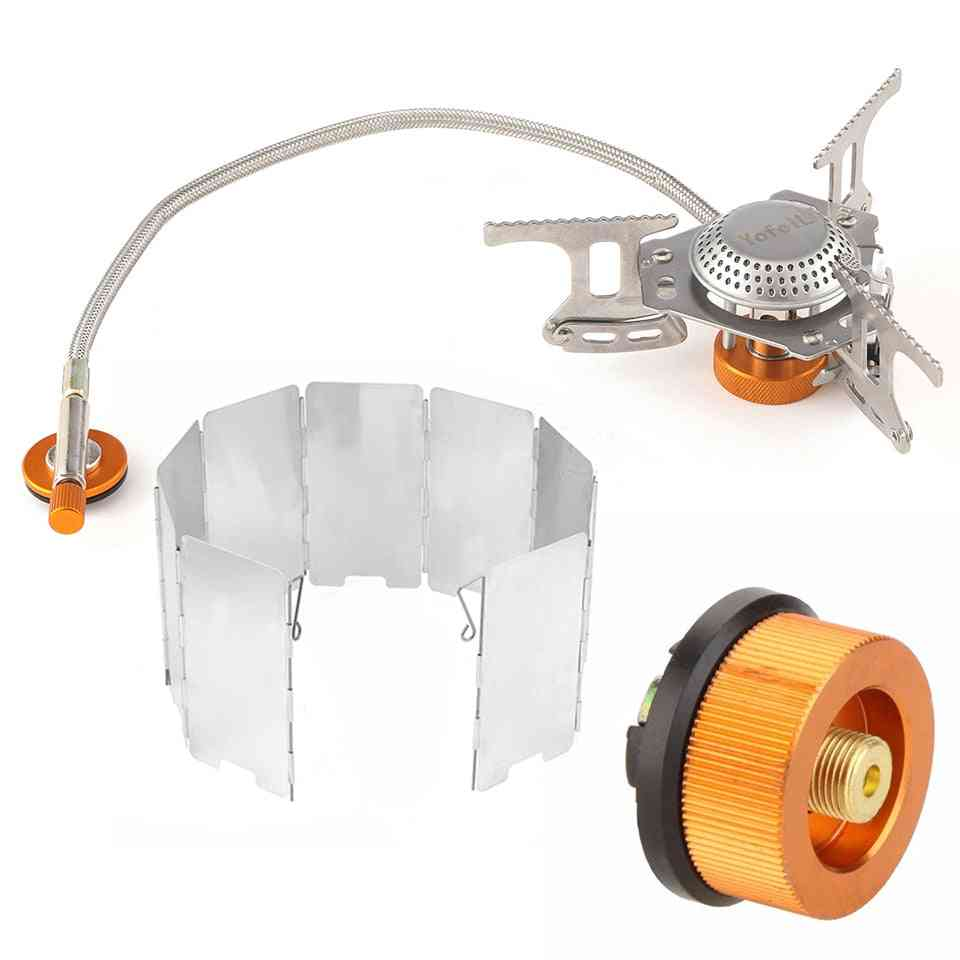 Outdoor Portable Gas Cooker Stove For Camping Hiking Accessories Adapter