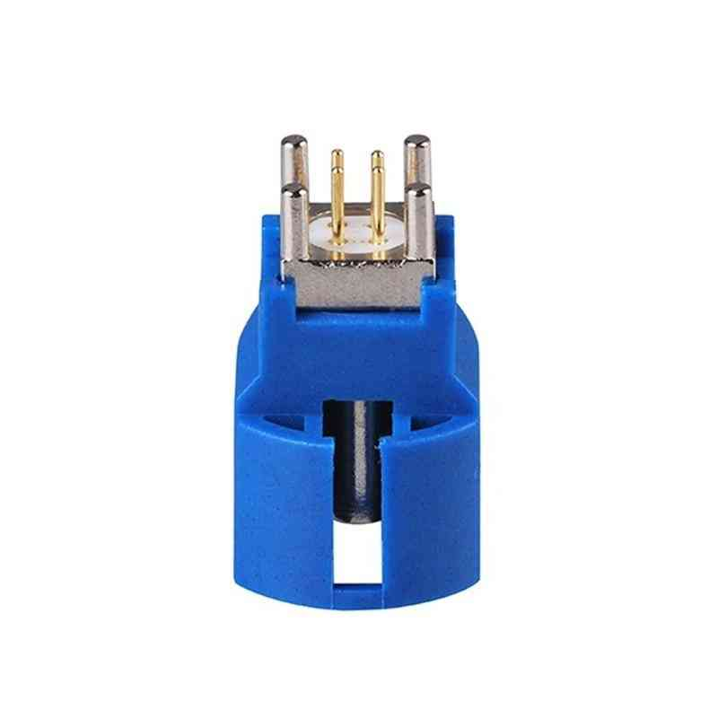 C Jack Pcb Mount Straight 4 Contact Pin Connector For Blue Gps Telematics Or Navigation