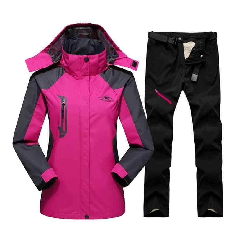 Ski Suit, Outdoor Waterproof Windproof Ski Jacket Pants