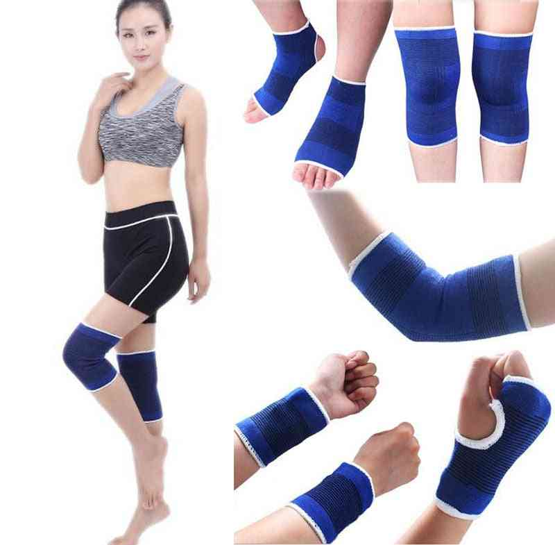 2pcs Elastic Sport Protection Band Elbow Knee Pads Fitness Gym Wristband Sleeve Elasticated Bandage Pad Ankle Brace Support Band
