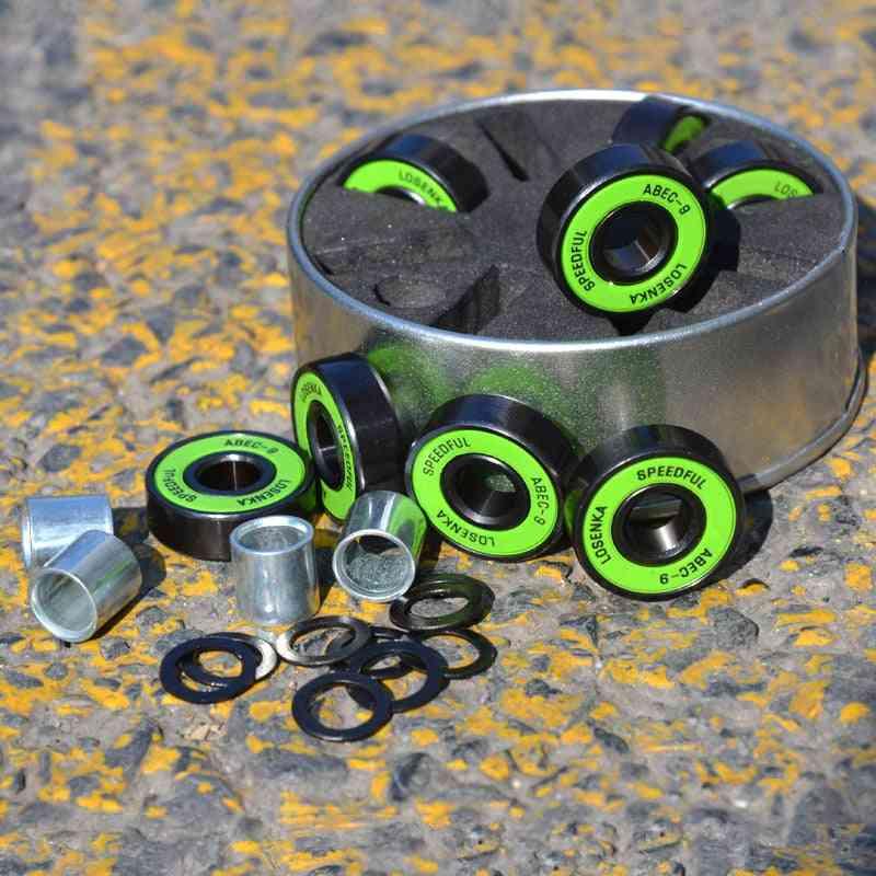 8pcs Abec Skateboard Bearings High-speed Longboard Parts