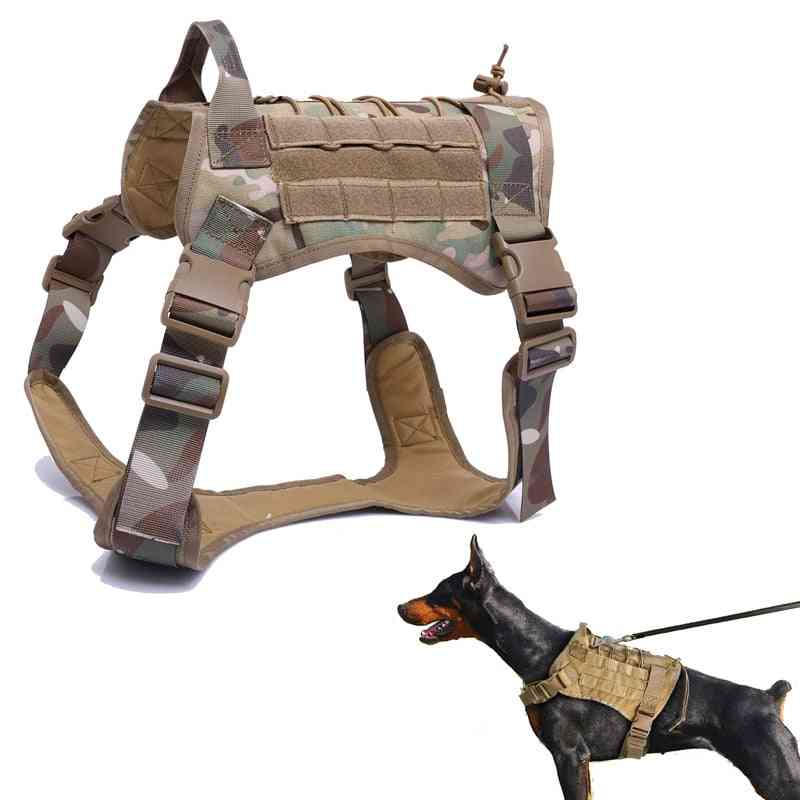 Tactical Service Dog Vest, Breathable, Military Clothes,  Harness Adjustable Size, Training Hunting Molle Dogs