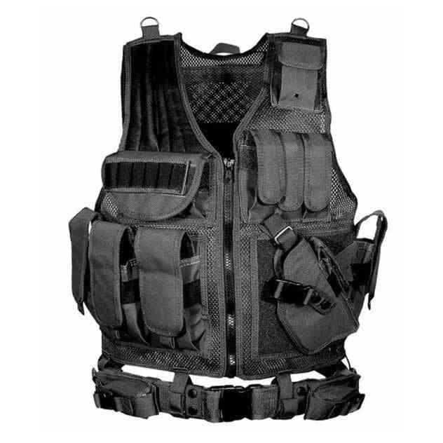 Hunting Tactical Vest, Swat Army, Cs Camping, Hiking Accessories, Outdoor, Lightweight