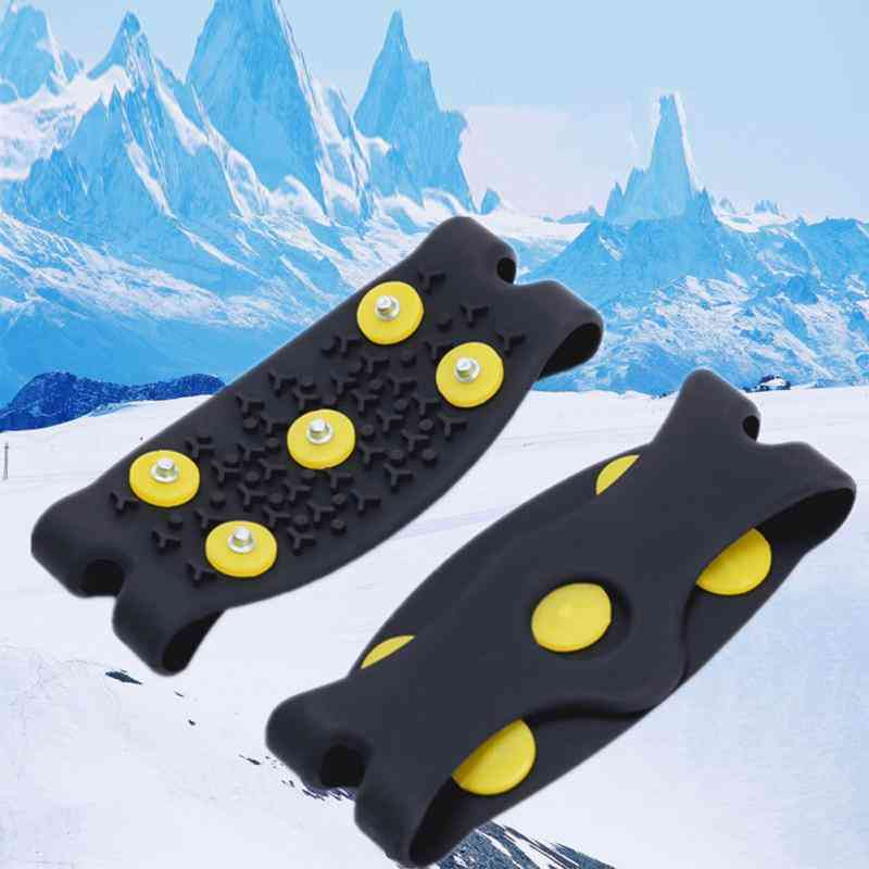 Anti Slip Crampon, Snow Ice Climbing Spikes Gripper Cleats, Shoes Cover Insoles, Camping & Hiking, Sports & Entertainment