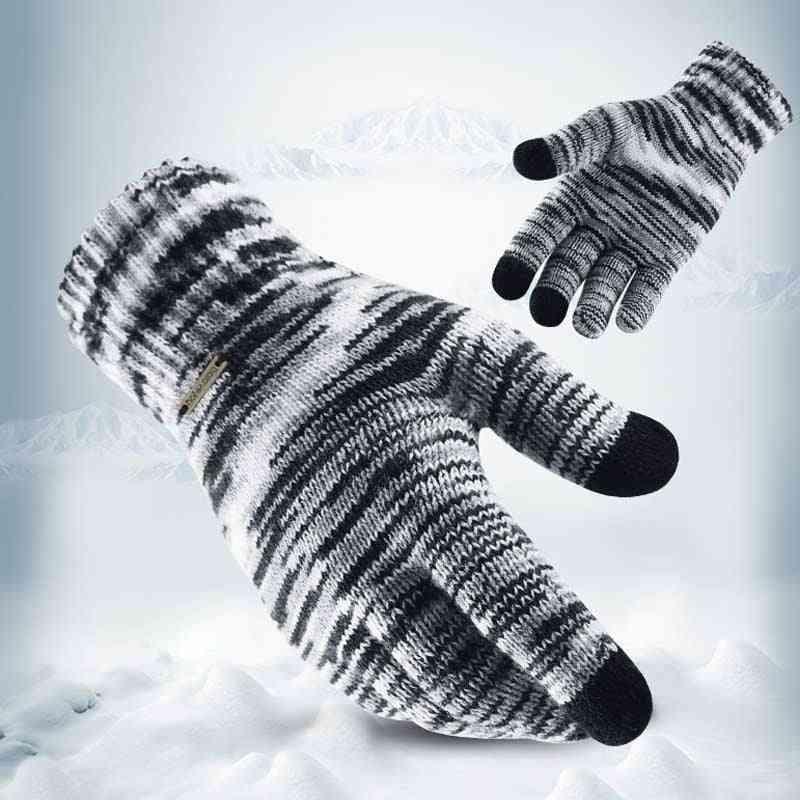 Fashion Touch Screen Winter Warm Knitted Running Gloves/women