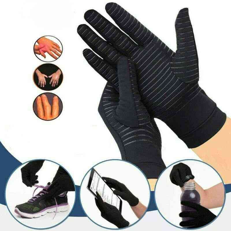 New Compression Arthritis Carpal Tunnel Pain Relief Full Finger Glove