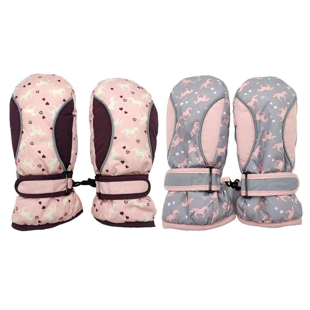 Ski Gloves, Winter Warm Waterproof Snow Gloves