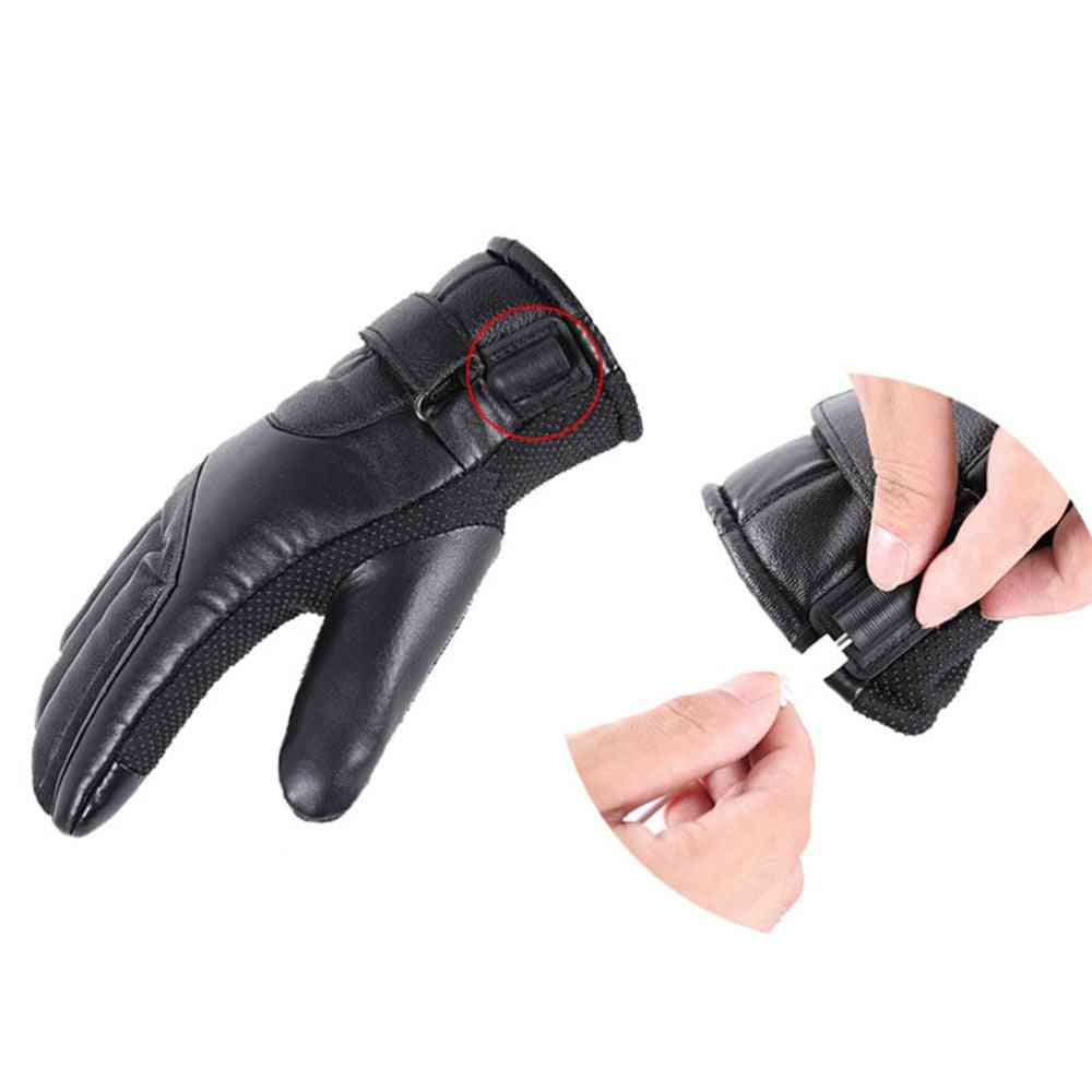 Winter Motorcycle Riding Electric Heating Gloves