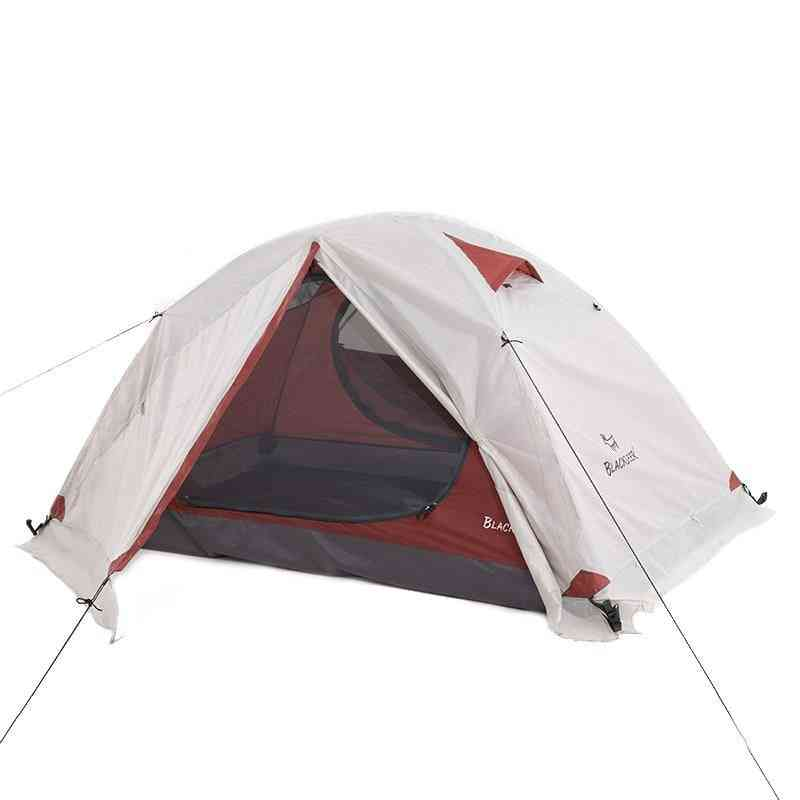 2p Backpacking, 4-season Tent With Snow Skirt, Double-layer Waterproof, Trekking Tent