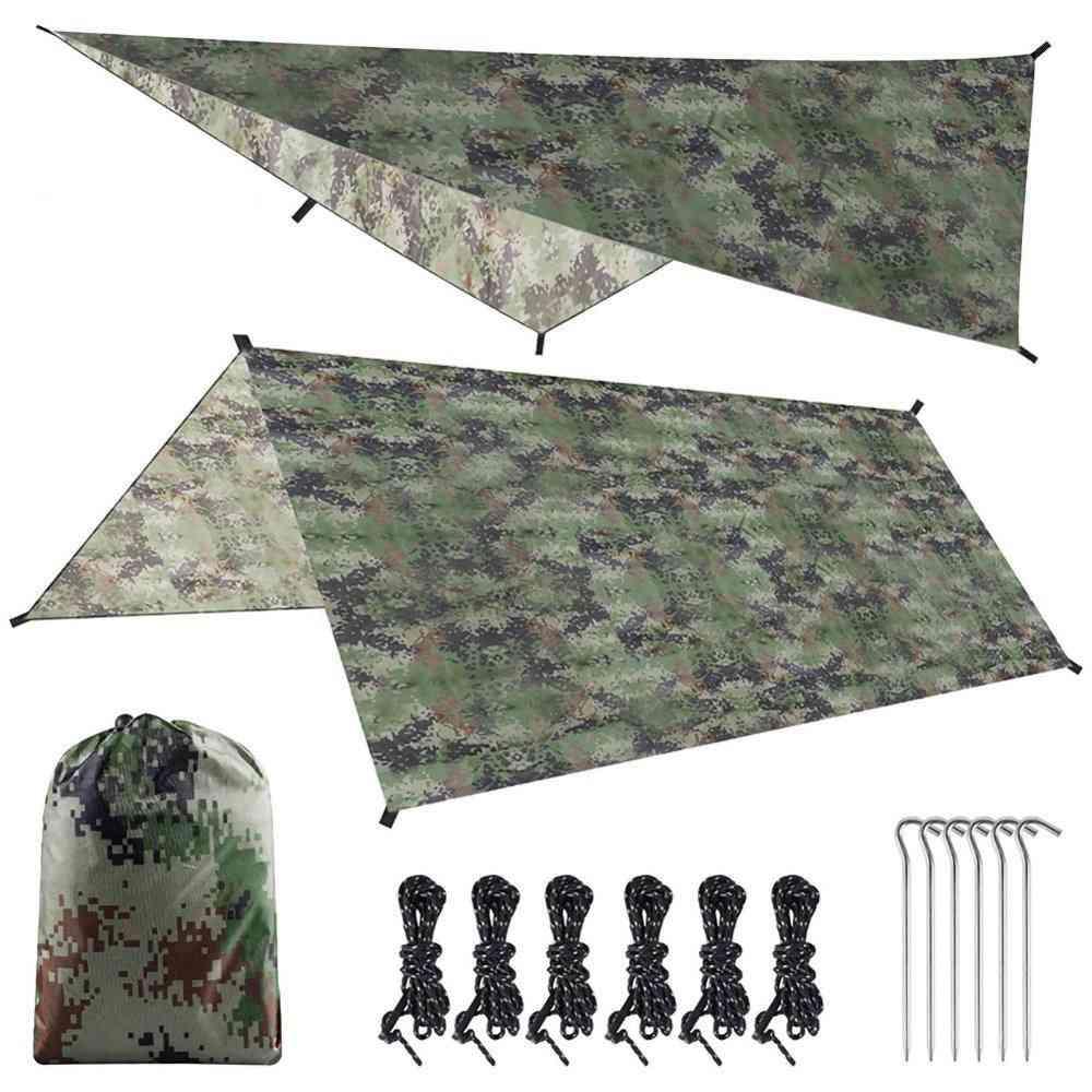 Tarp Tent Shade, Canopy Sunshade, Outdoor Camping, Hammock Shelter