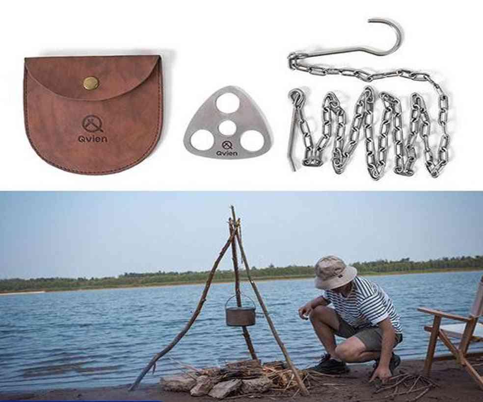 Stainless Steel- Ring Tripod, Hanging Pot, Bracket Barbecue, Rack Hanger