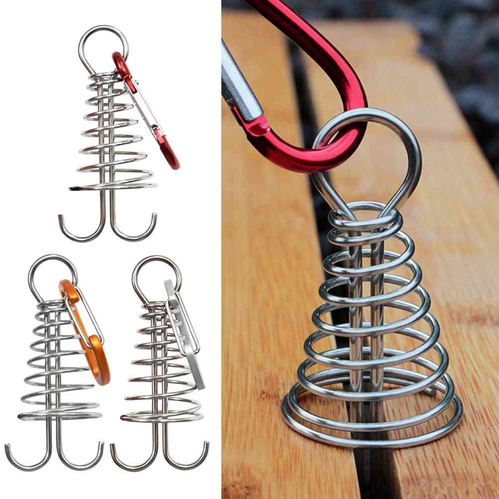 Fixed Hook Tent Buckle- Plank Floor, Spring Nails, Outdoor Camping Accessories