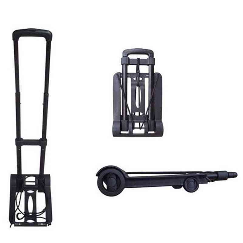 Foldable Travel Luggage Shopping Cart, Trolley, Folding, Portable, Aluminium Black Hand