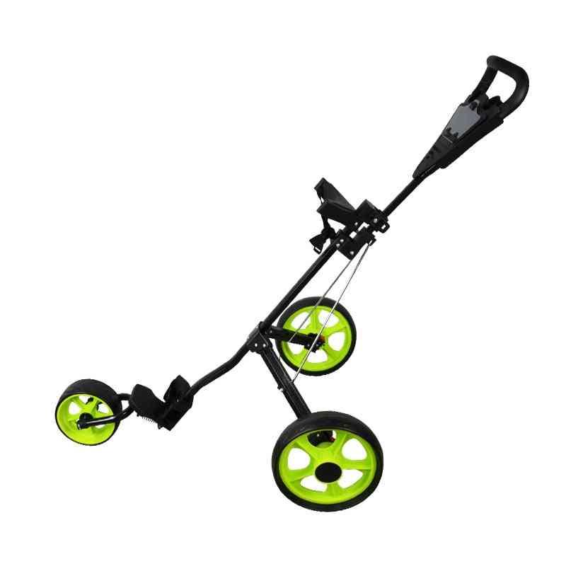 Golf Push Cart, Lightweight, 3 Wheels, Club Push, Pull Trolley