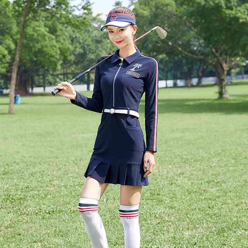 Spring Apparel Women Long Sleeve Dress, Golf Wear, Lady Slim, Anti-sweat,  Skirt Winter Shirt, Mg Clothes