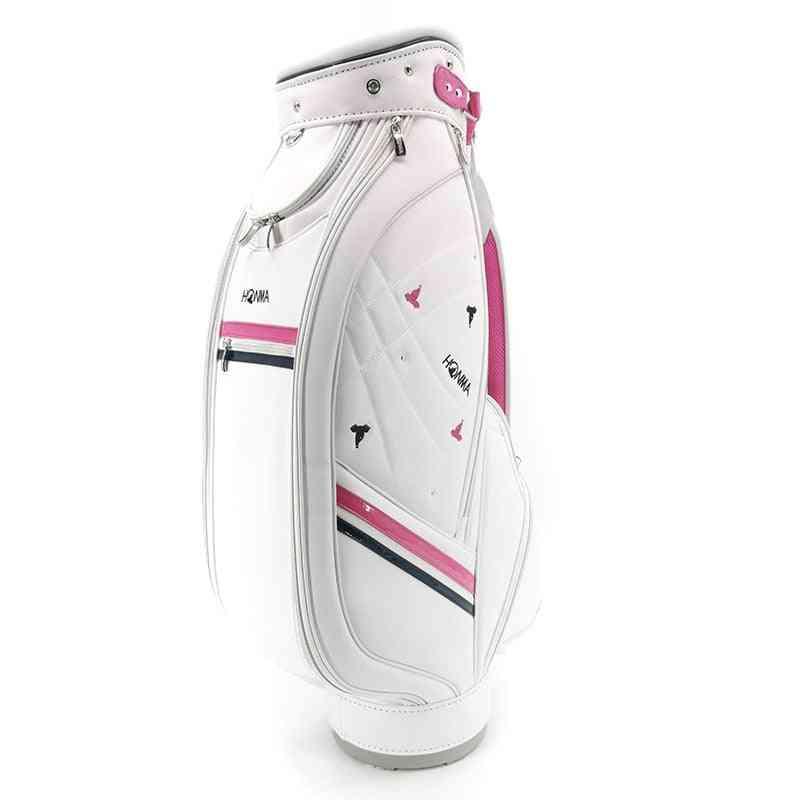 Golf Bag, Ladies' Premium Pu Standard Bags, Waterproof