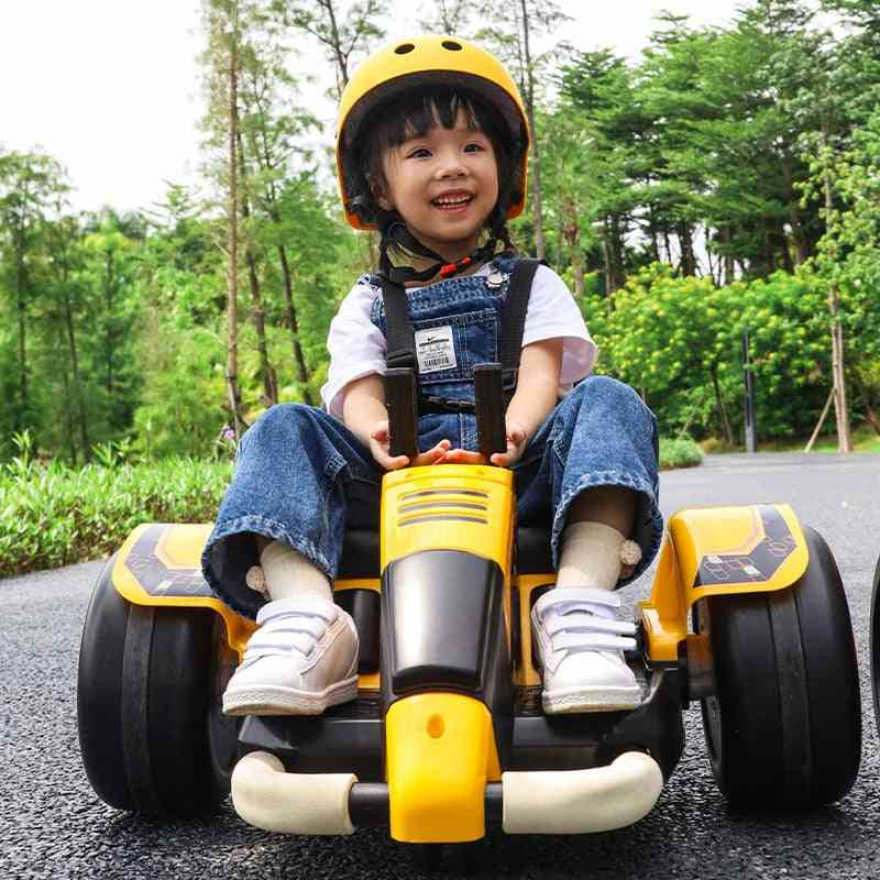 Outdoor's Intelligent Electric Spinning Car Four-wheel Safe Bumper Car Music Rotation Car Baby Toy Car