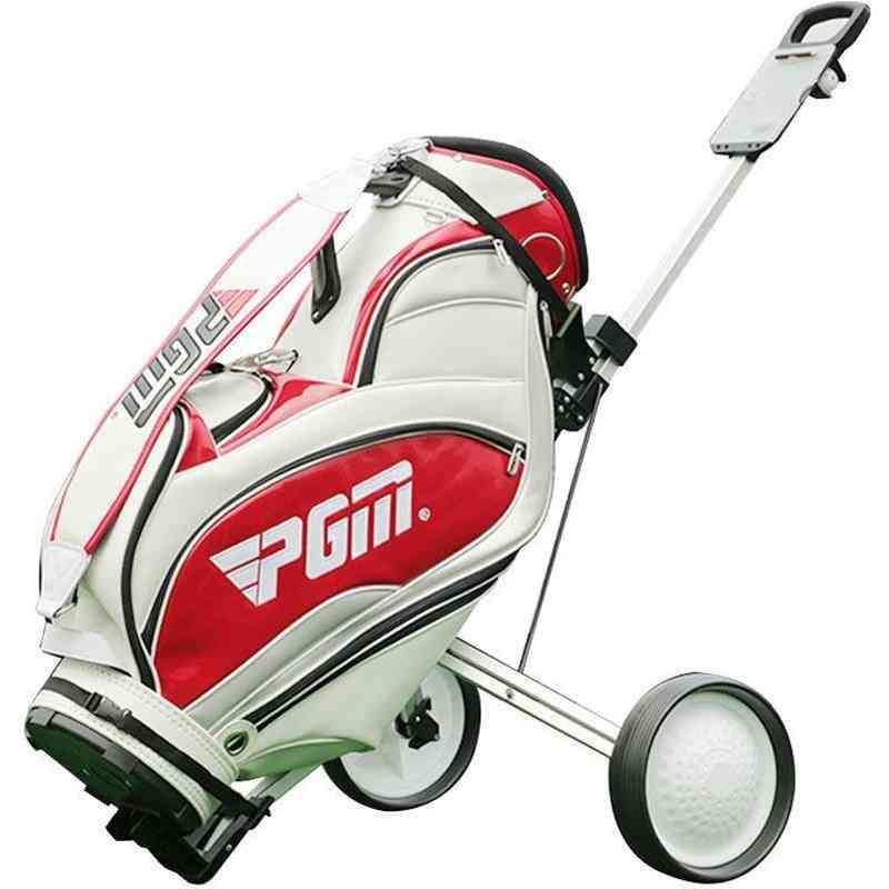 Folding 2-wheel Trolley For Golf Bag