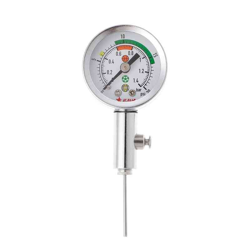Soccer Ball Pressure Gauge Air Watch Football-basketball Barometers