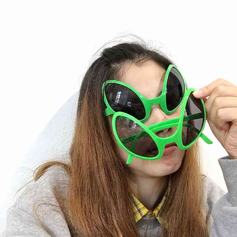 Aliens Costume Glasses Rainbow Lenses