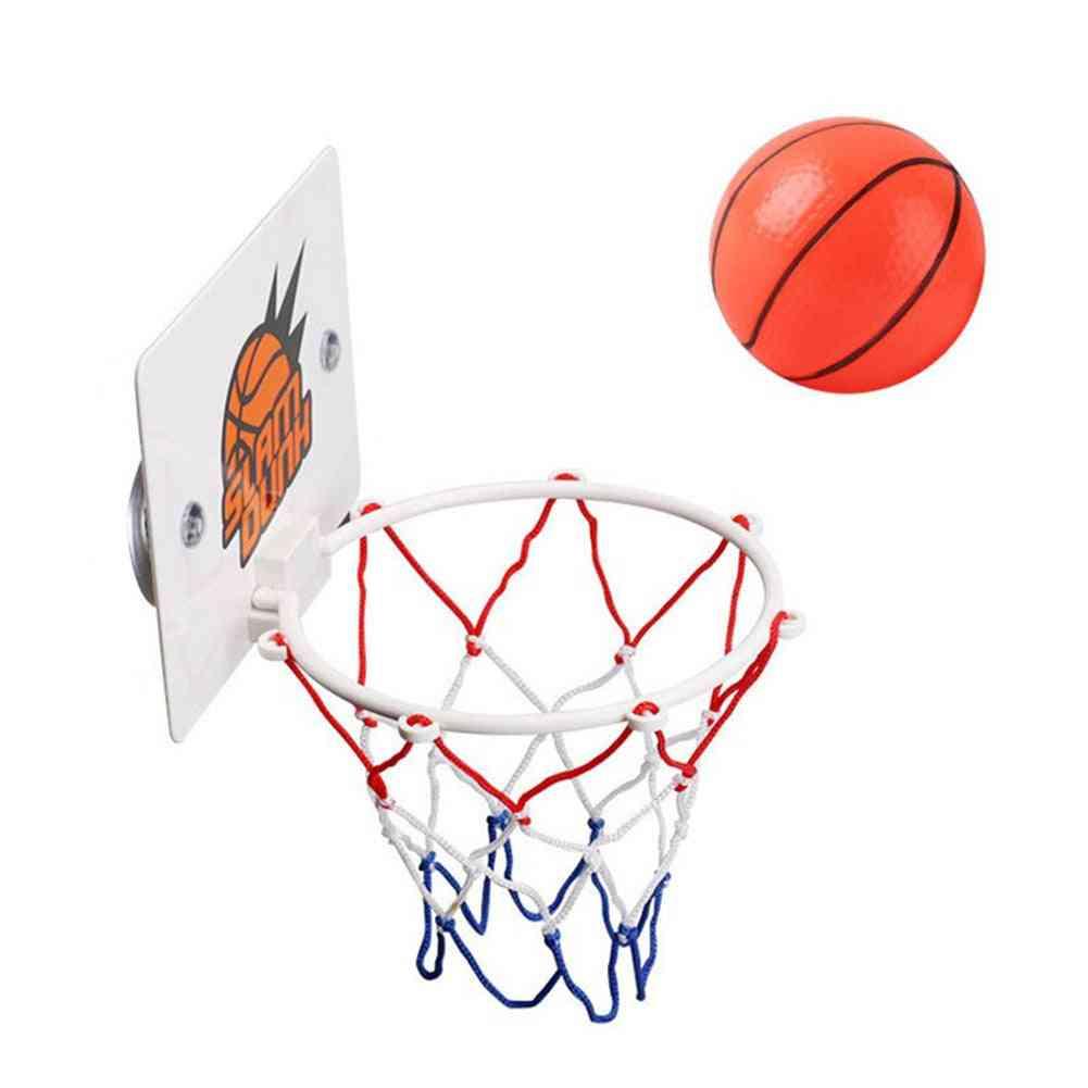 Plastic Basketball Board Box Net Set, Backboard Hoop Mini Netball