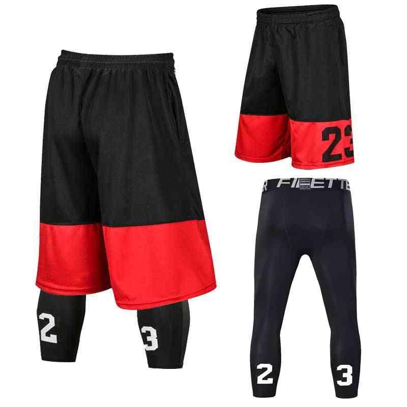 Men Basketball Set Uniforms, Shorts Sports Fitness Pants