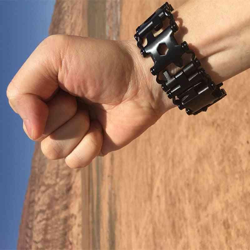 Stainless Steel Tool Survival Bracelet