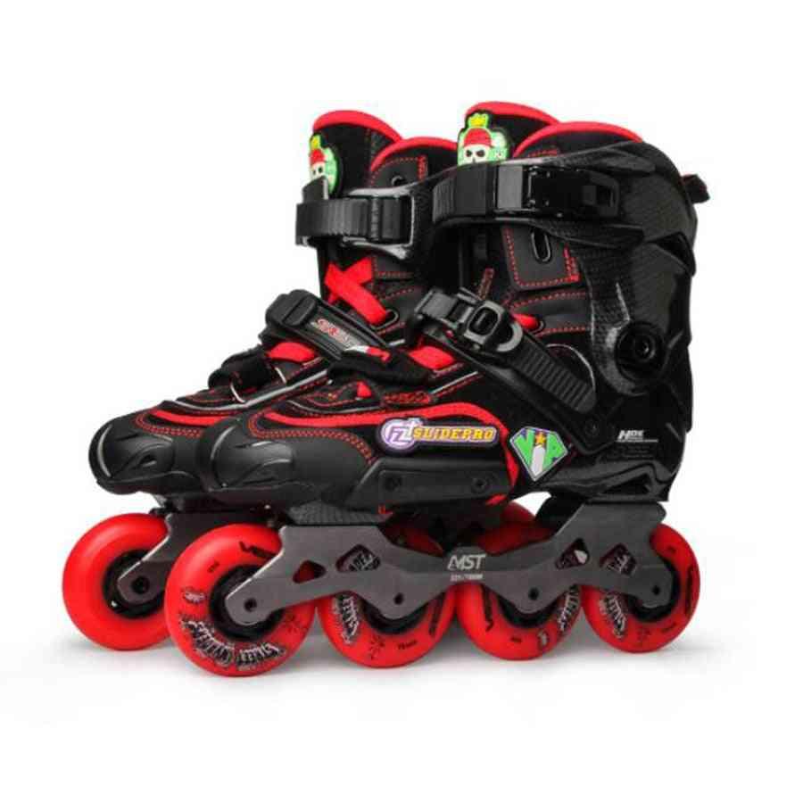 Adult Inline Skates, Diy Roller Skating Shoes, Flat Frame, Slalom Sliding, Free Skating Patines