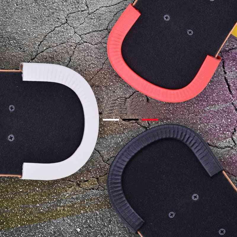 Skateboard Deck Guards, Protector U Design, Rubber Bumpers, Bump Long Board, Crash Rubber Strip