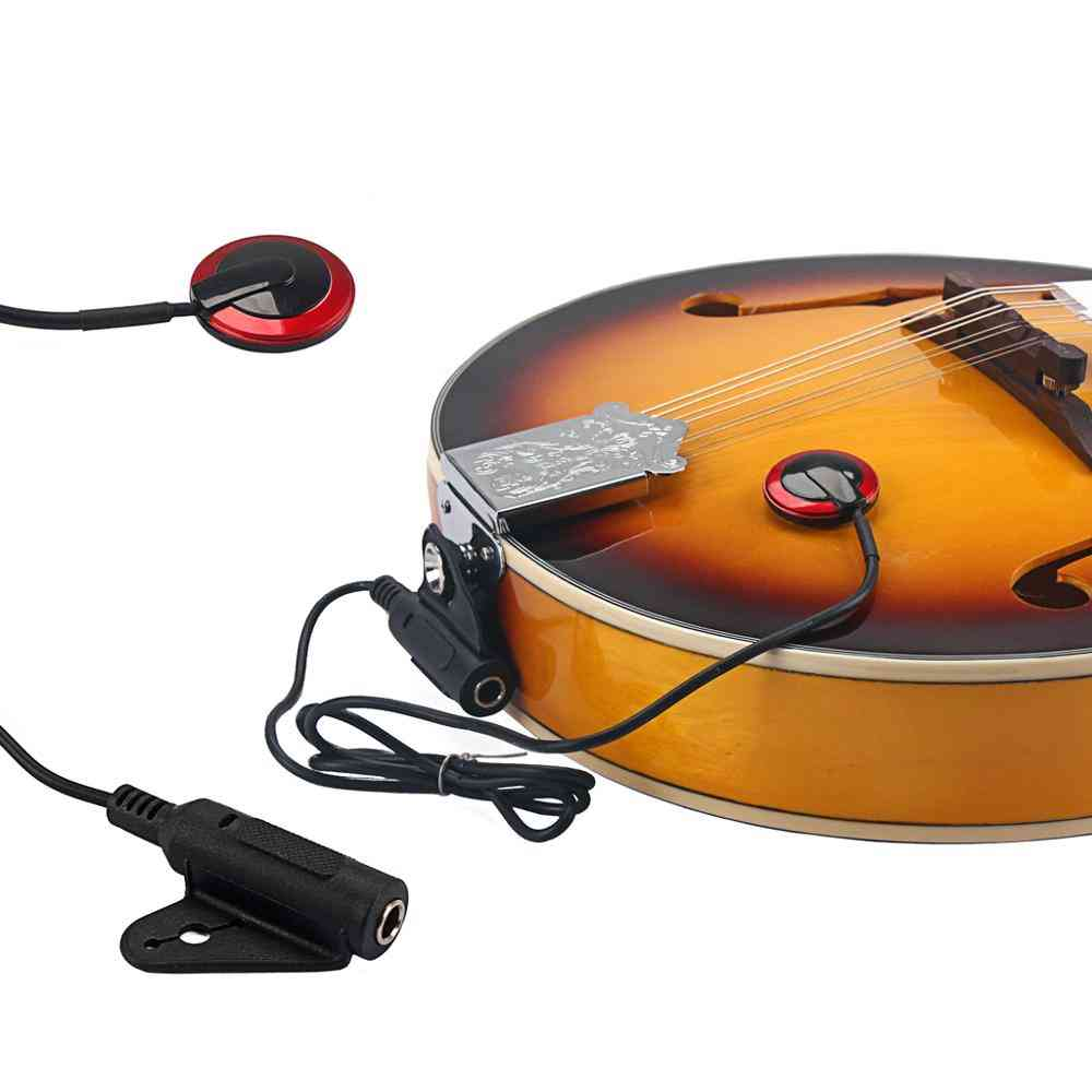 Piezo Transducer Contact Mic Copper Pickup For Acoustic Guitar