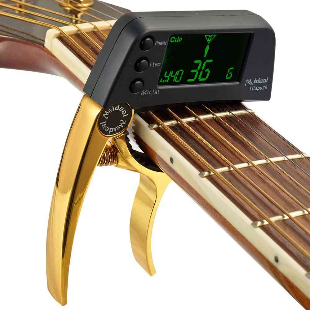 Acoustic Guitar, Capo Quick Change Key Capo Tuner For Electric Guitar