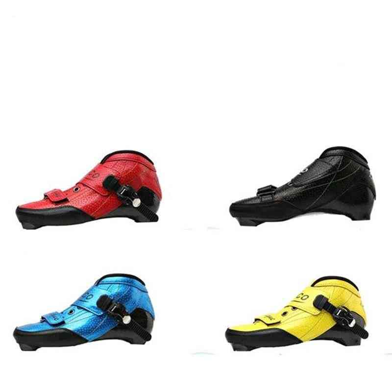 Inline Speed Skates Boot Carbon Fiber Mounting Distance Racing Upper Shoes