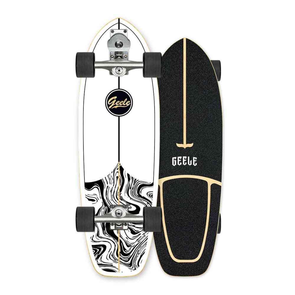 Professional S7 Carver Surf Land Skateboard Highly Smooth Maple Cruiser Skate Board