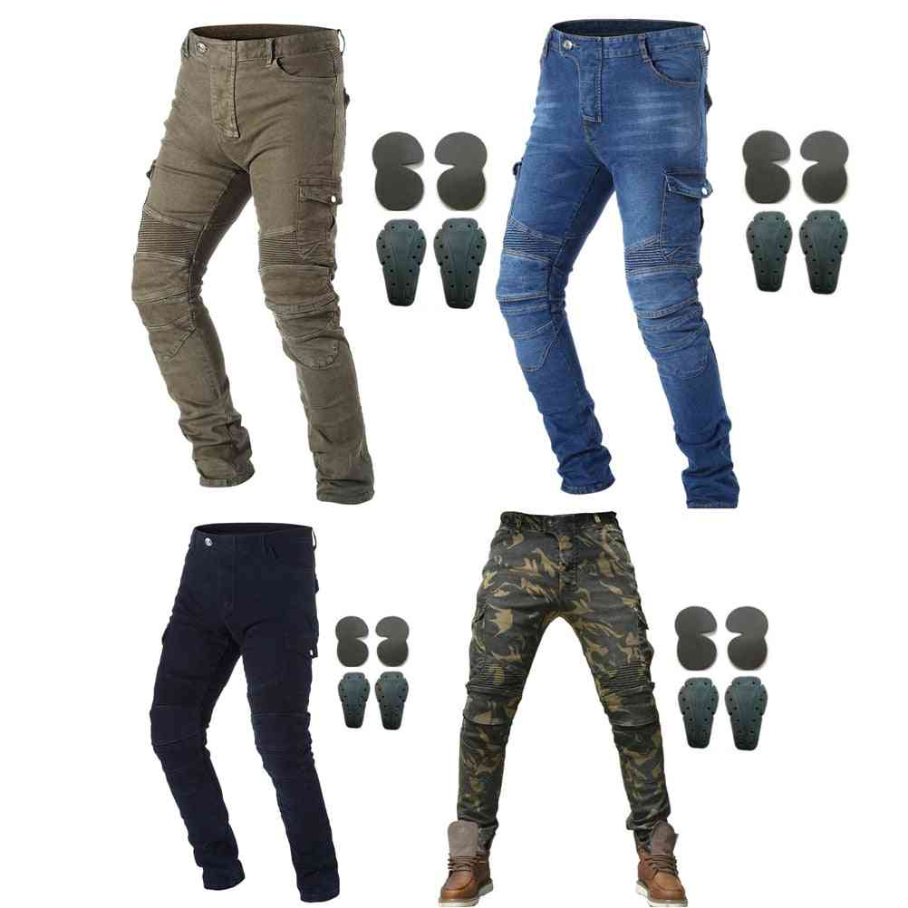 Motorcycle Riding Jeans With Armor Knee Hip Pads