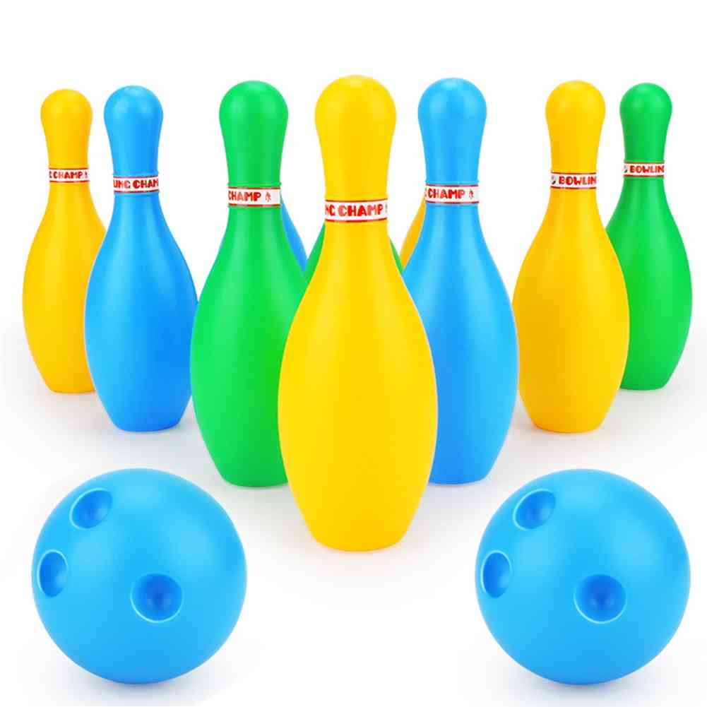 12pcs Family Games Educational Indoor Outdoor Home Bowling Set