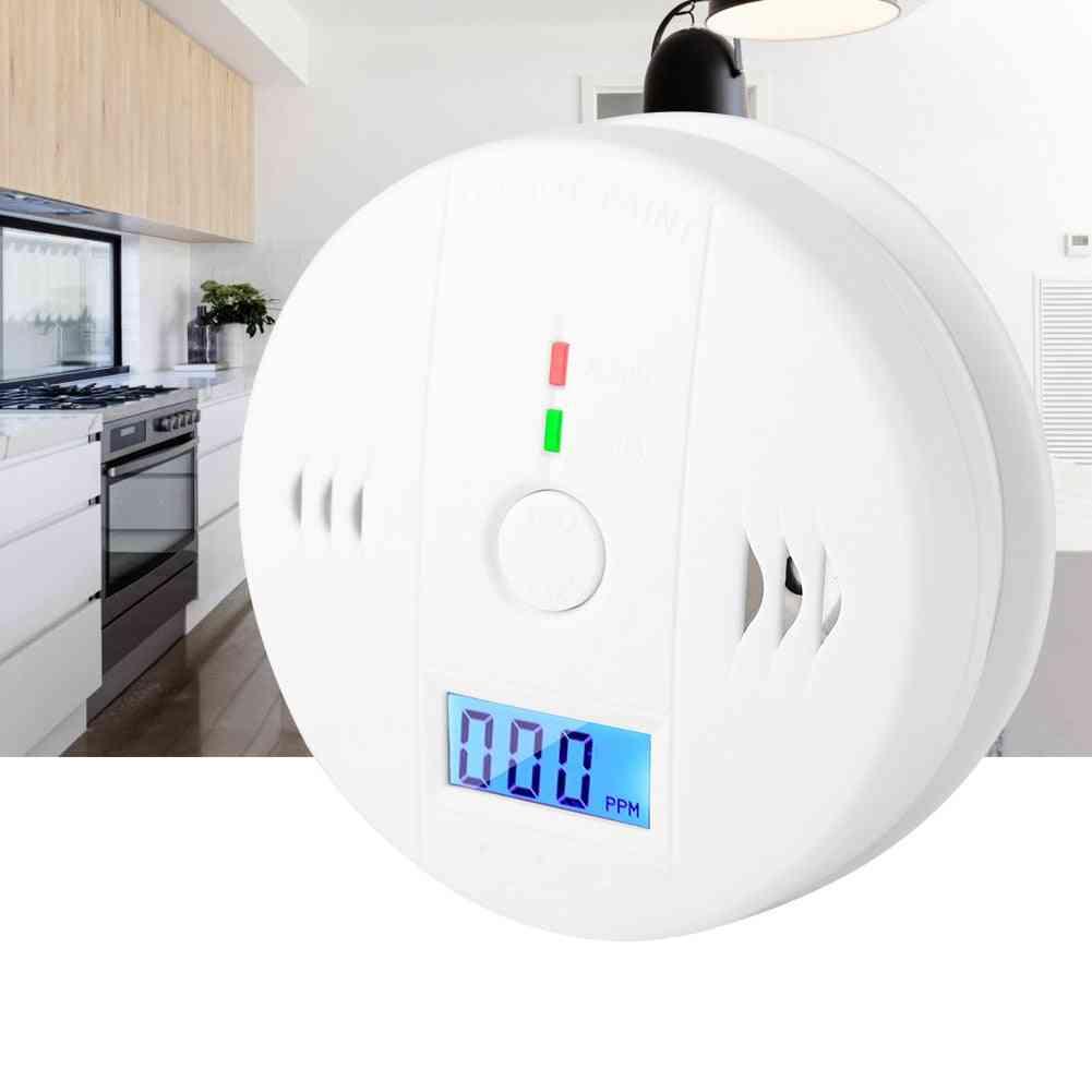 Carbon Monoxide Alarm Lcd Co Smoke Intelligent Sensor Poisoning Gas Warning Detector Koolmonoxide Melder Alarm Detector