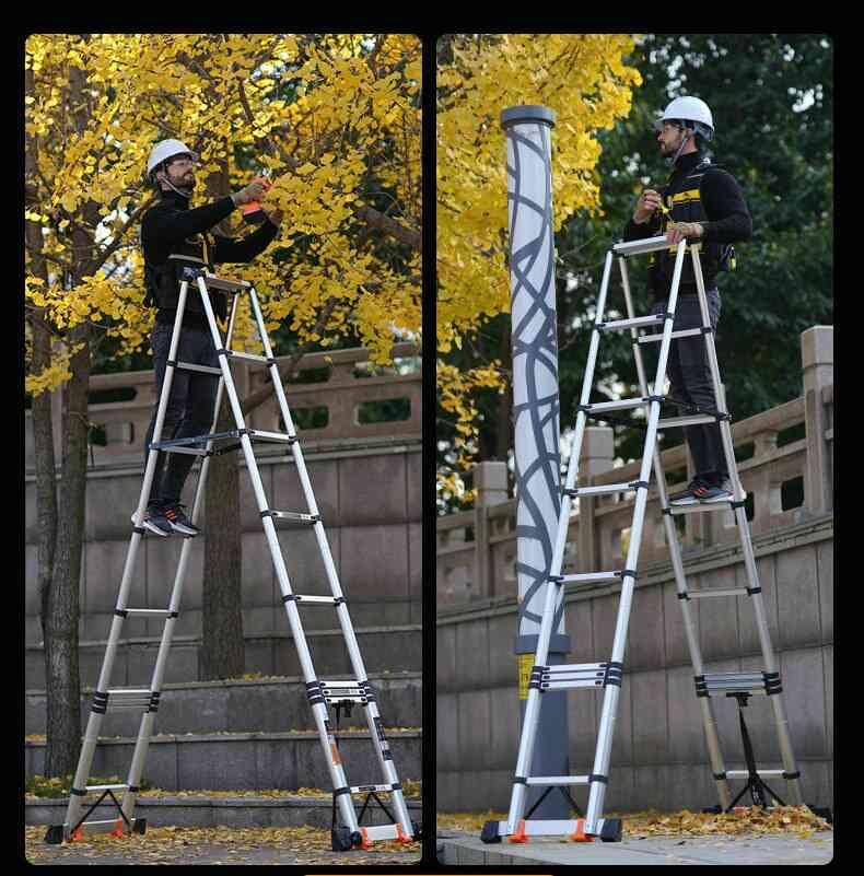 Telescopic Ladder Herringbone Ladder Household Folding Ladder