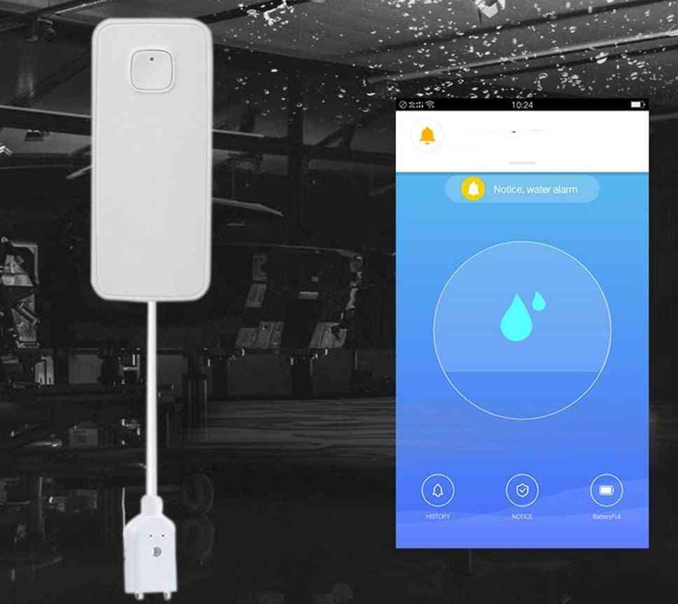 Water Leakage Alarm Smart Mobile Remote Control Flood Detector / Overflow Protection Detector