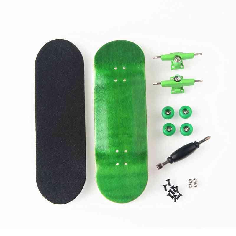 Creative Finger Skateboard, Child Finger, Professional Type, Bearing Wheels, Skid Pad, Maple Wood Skate