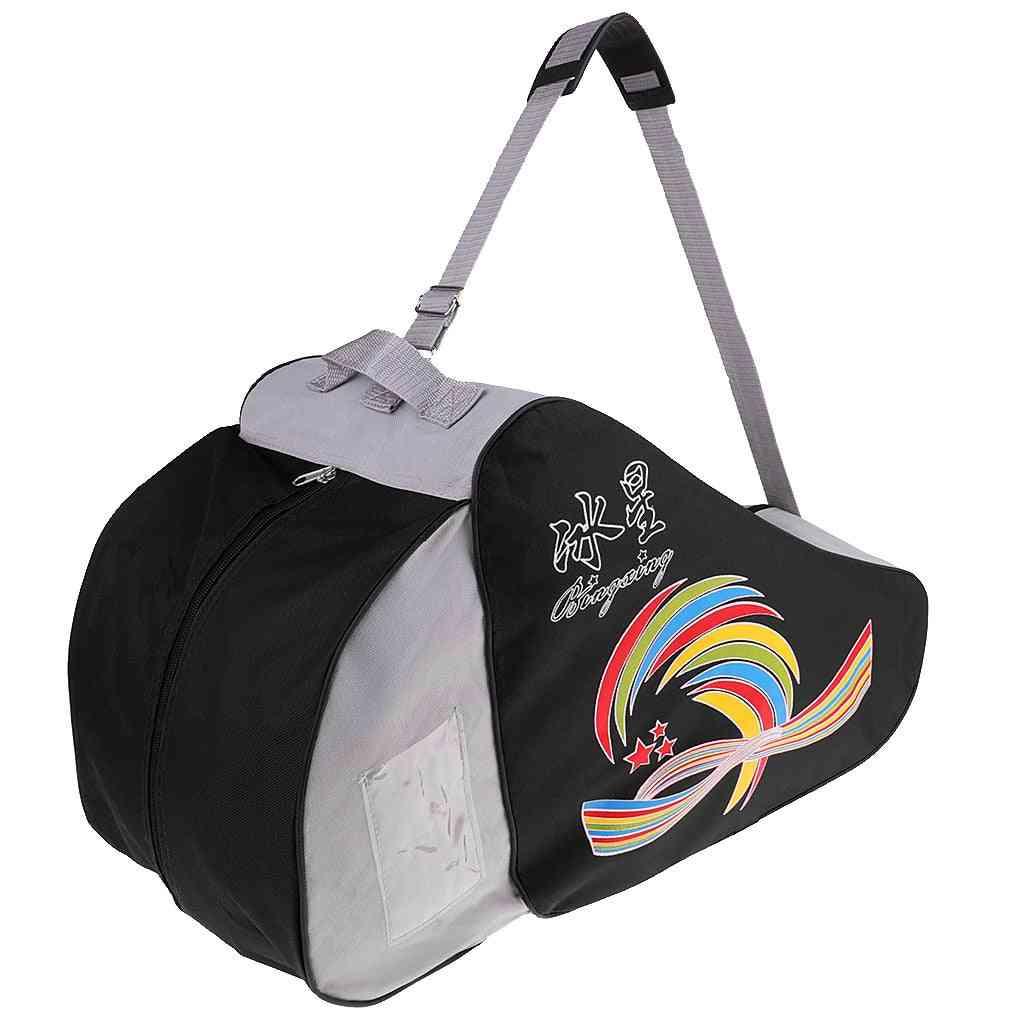 Waterproof Roller Skating Storage Bag, Boots, Shoes, Skates Protective Gears, Adjustable Compartment Design Case
