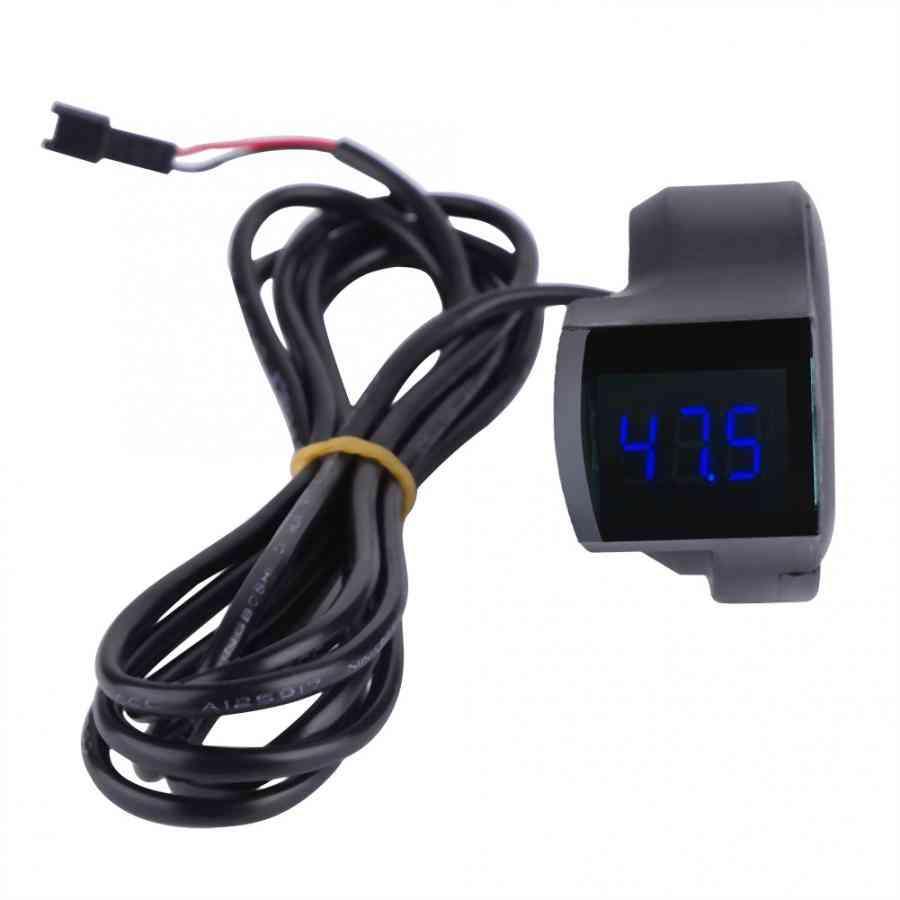 Universal Electric Bicycle Voltage Display Handlebar Voltmeter