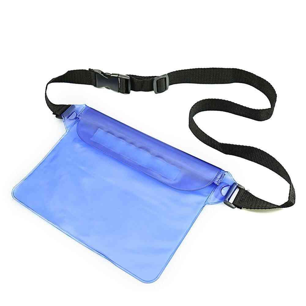 Durable Waterproof Pouch Phone Bag Money Case With Waist Strap
