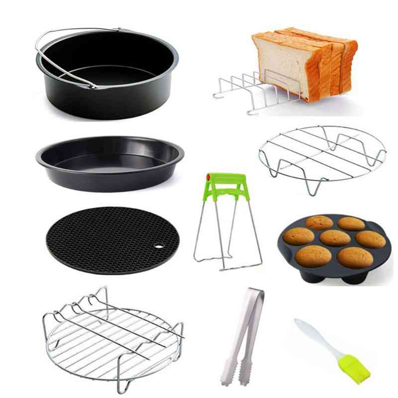 Air Fryer Accessories Pizza Tray Home Kitchen Parts