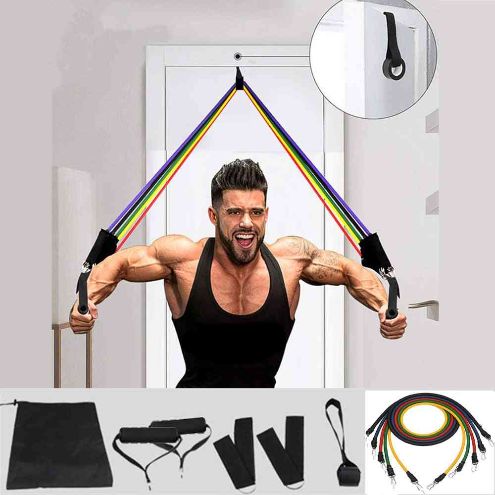 Rubber Elastic, Resistance Bands Sets For Fitness Sports, Training Pull Rope