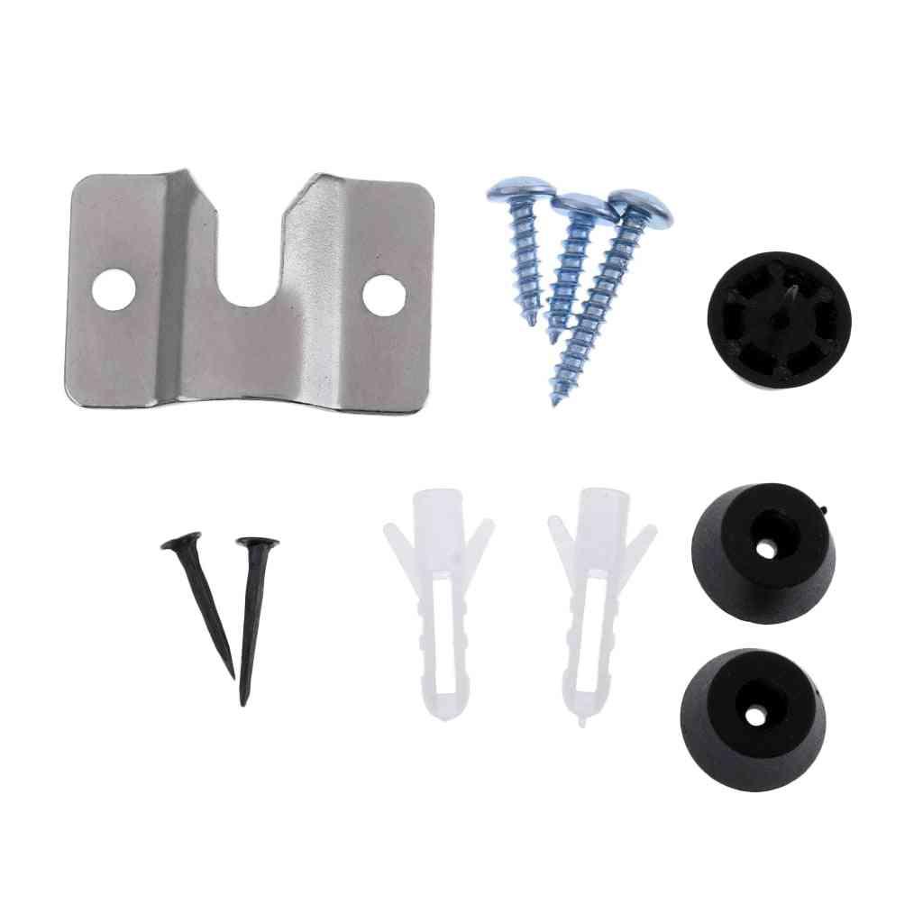 Hardware Kit Screws, Walll Bracket, U-shaped Groove Design Dart Accessories For Hanging, Dartboard On Cabinet Wall
