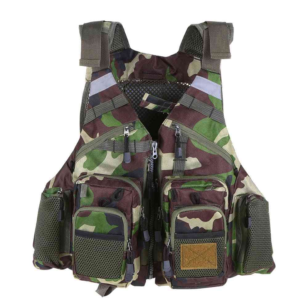 Outdoor Breathable Fishing Life Vest Safety Jacket